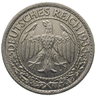 German Empire, Weimar Republic, 50 Reichspfennig 1933 (obverse)