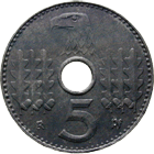 German Third Reich, 5 Reichspfennig, Military Issue 1940 (obverse)