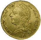 Kingdom of France, Louis XV, Double Louis d'or 1772 (obverse)