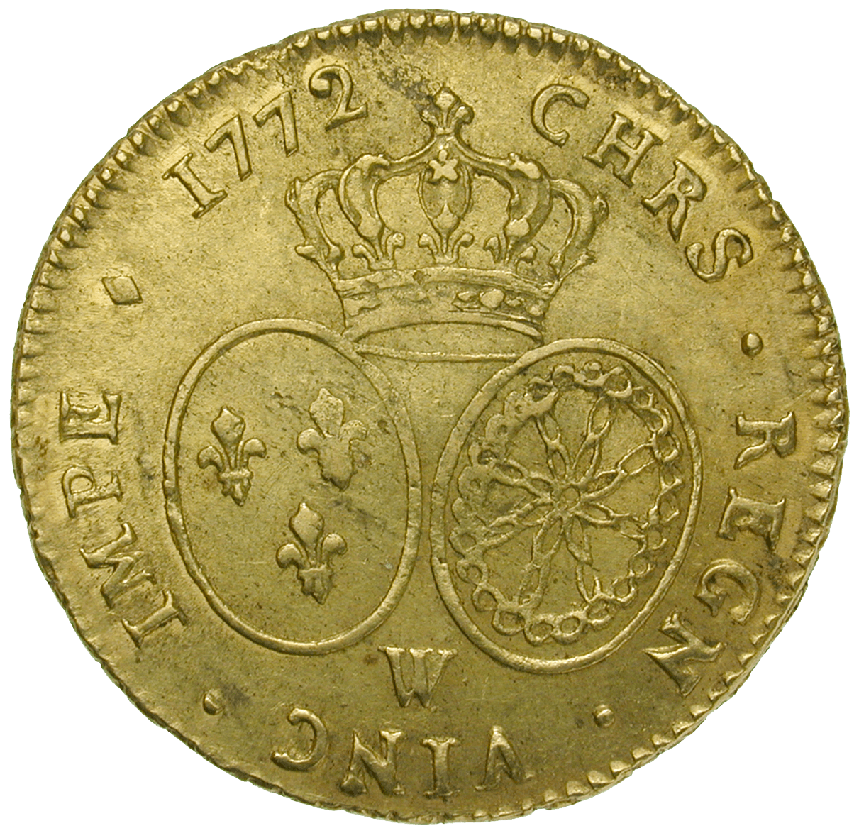 Königreich Frankreich, Ludwig XV., Doppelter Louis d'or 1772 (reverse)
