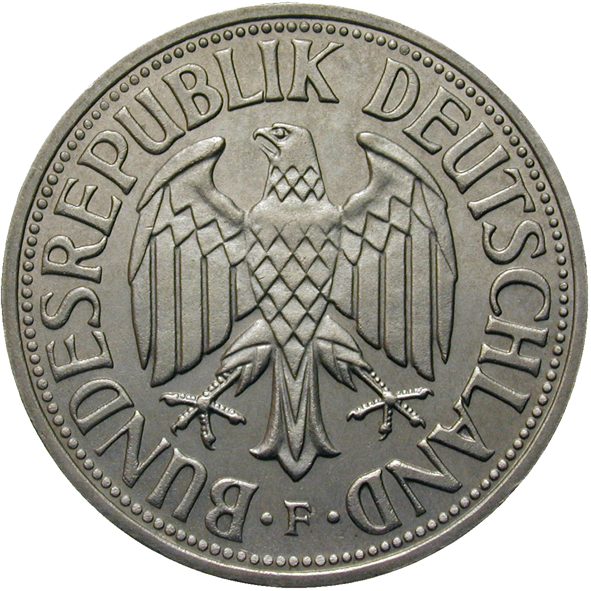 Federal Republic of Germany, 1 Deutsche Mark 1956 (obverse)