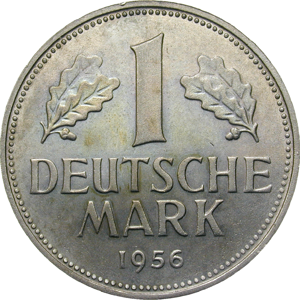 Federal Republic of Germany, 1 Deutsche Mark 1956 (reverse)