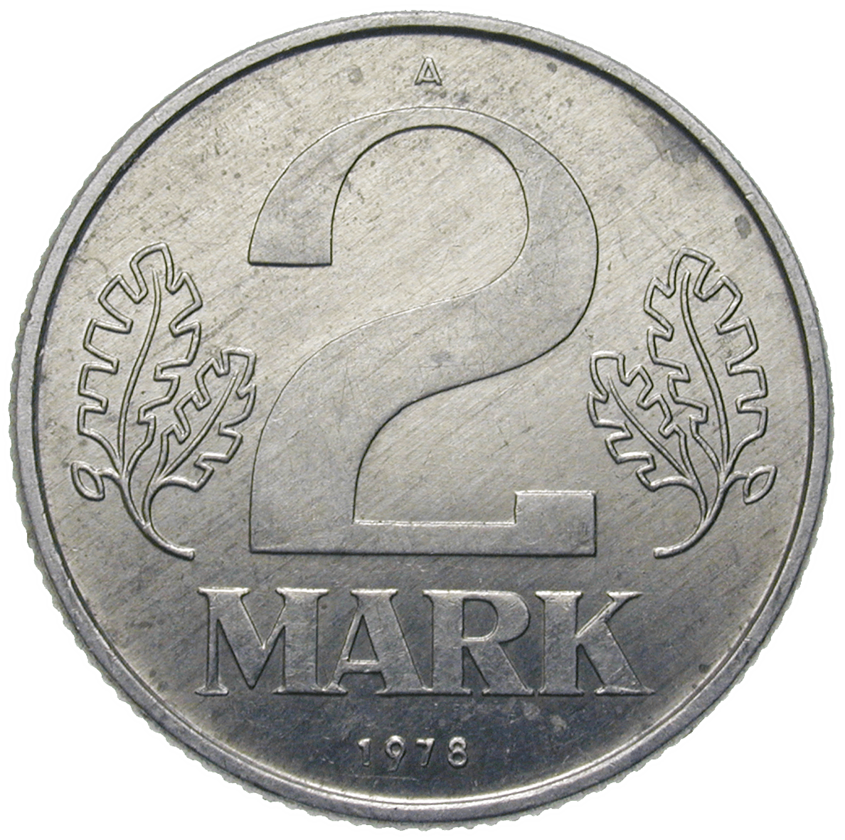 German Democratic Republic, 2 Mark 1978, Berlin (reverse)