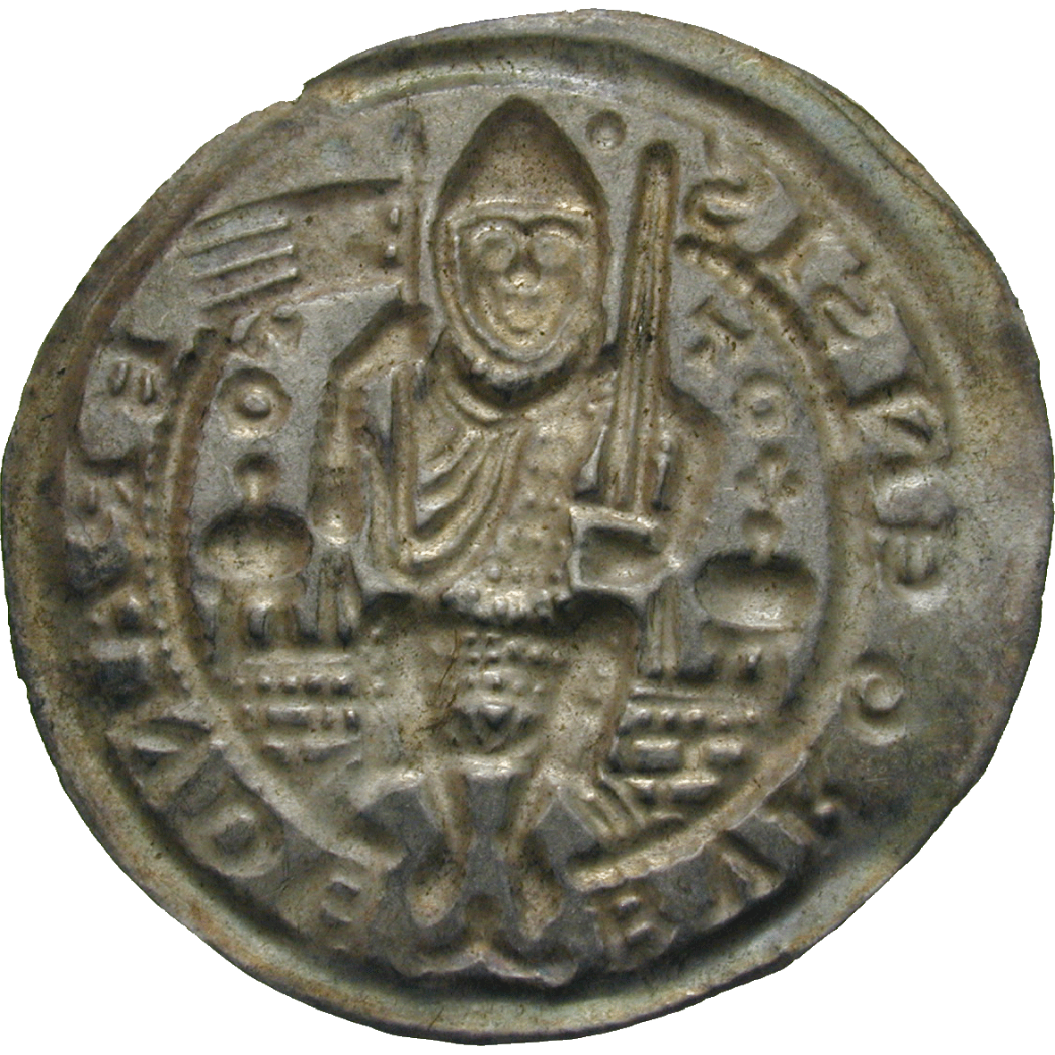Holy Roman Empire, Brandenburg in the Marken, Otto I, Bracteate (reverse)