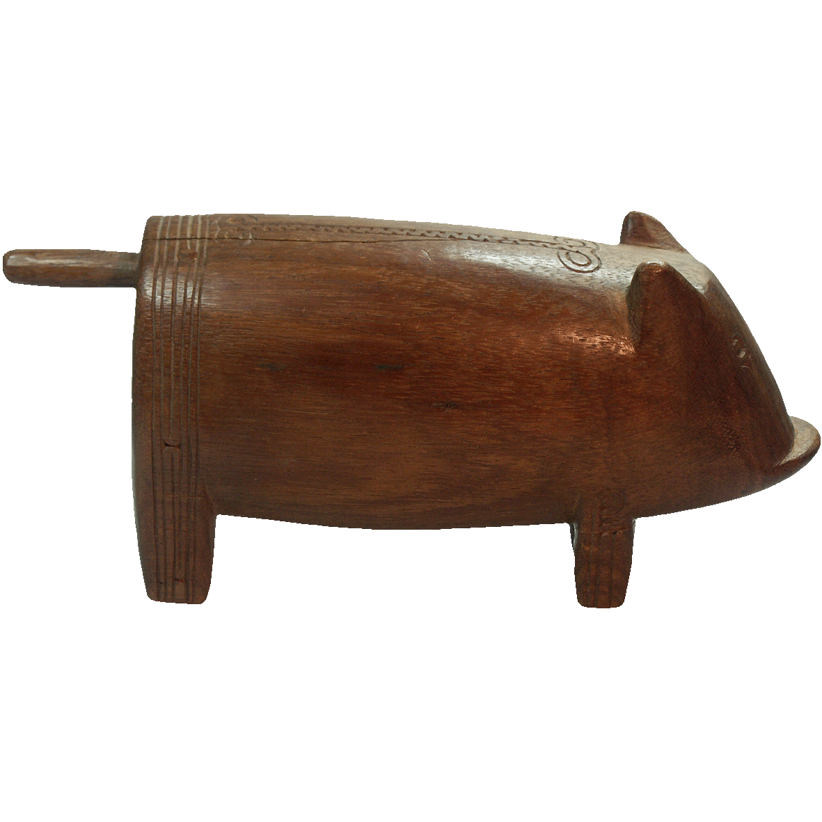 Papua New Guinea, Pig made from Wood (reverse)