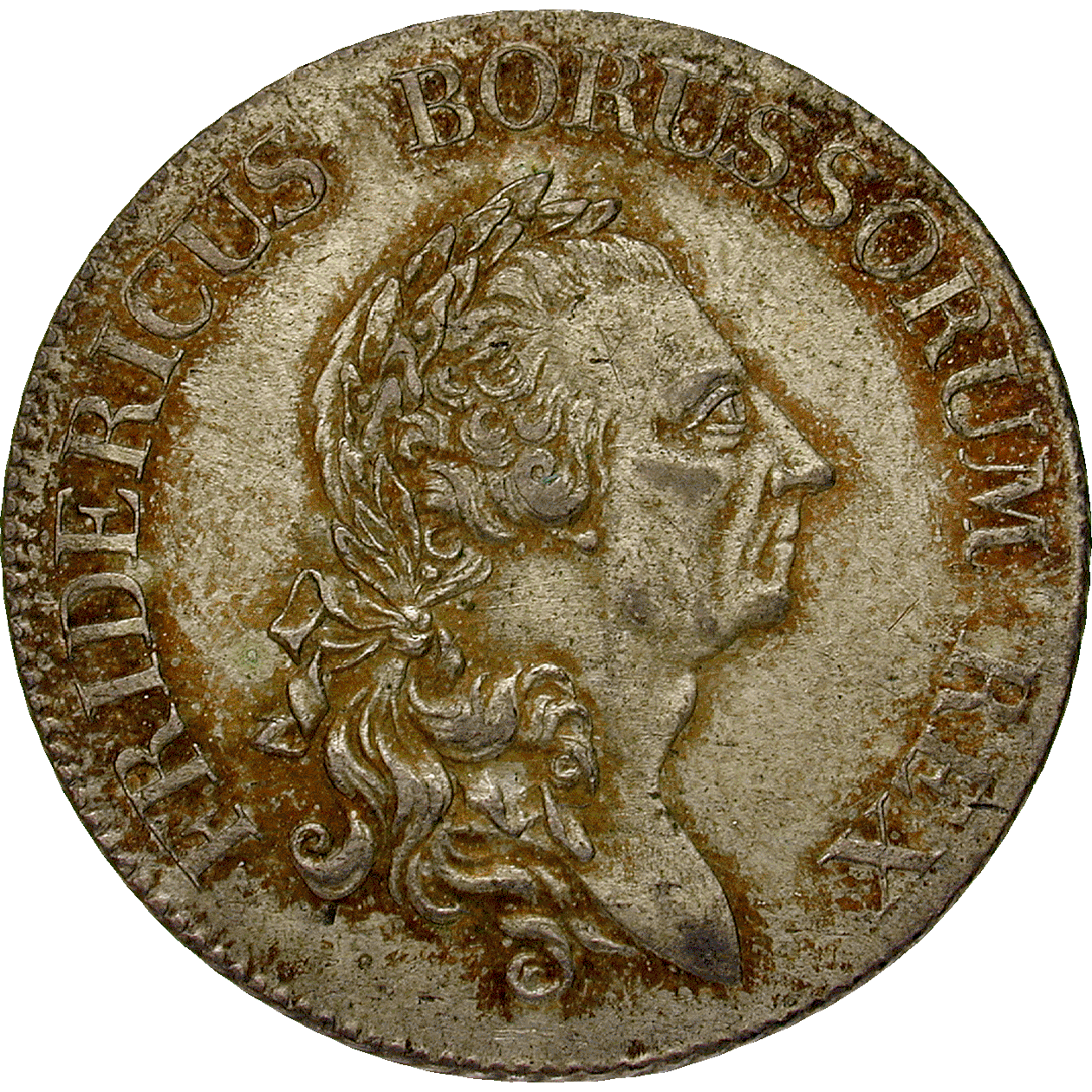 Holy Roman Empire, Kingdom of Prussia, Frederick II the Great, 1/3 Taler 1774 (obverse)