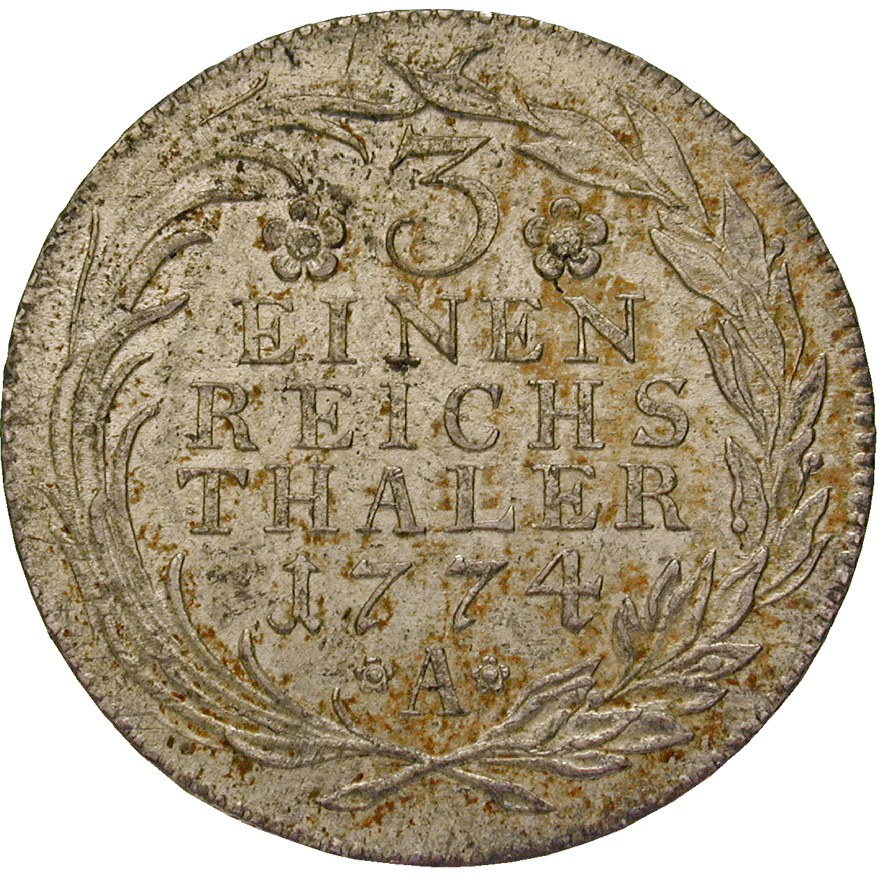 Holy Roman Empire, Kingdom of Prussia, Frederick II the Great, 1/3 Taler 1774 (reverse)