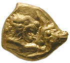 Kingdom of Lydia, Croesus, Heavy 1/24 Stater (obverse)