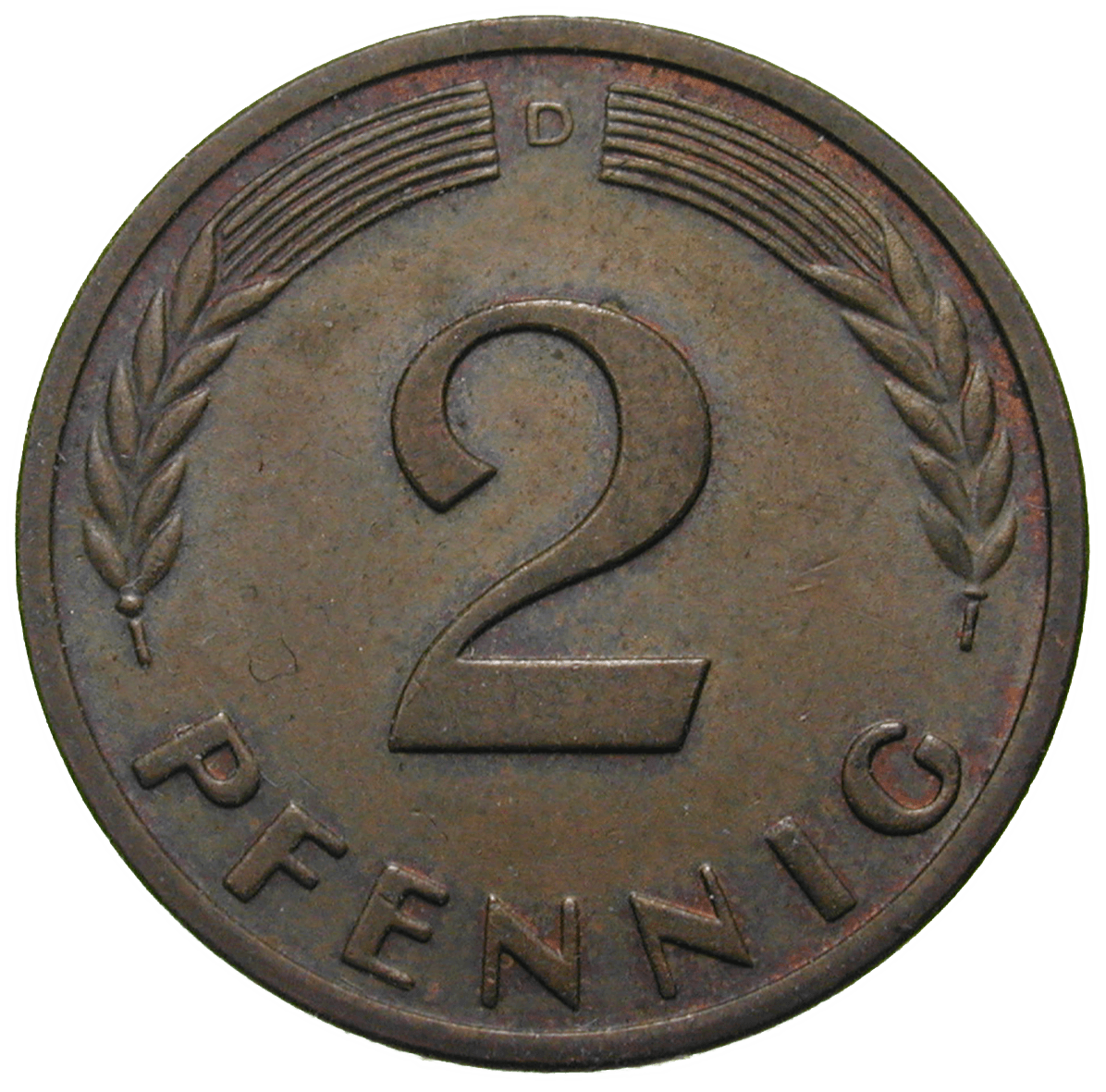 Federal Republic of Germany, 2 Pfennig 1950 (obverse)