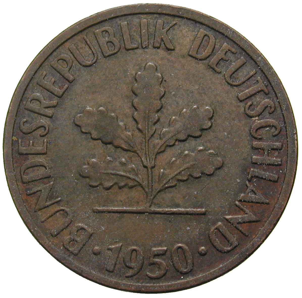 Federal Republic of Germany, 2 Pfennig 1950 (reverse)
