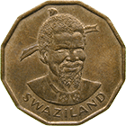 Kingdom of Swaziland, Sobhuza II, 1 Cent 1974 (obverse)