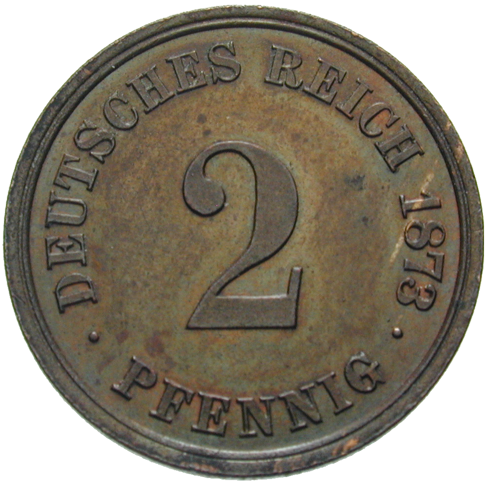 German Empire, Wilhelm I, 2 Pfennig 1873 (obverse)