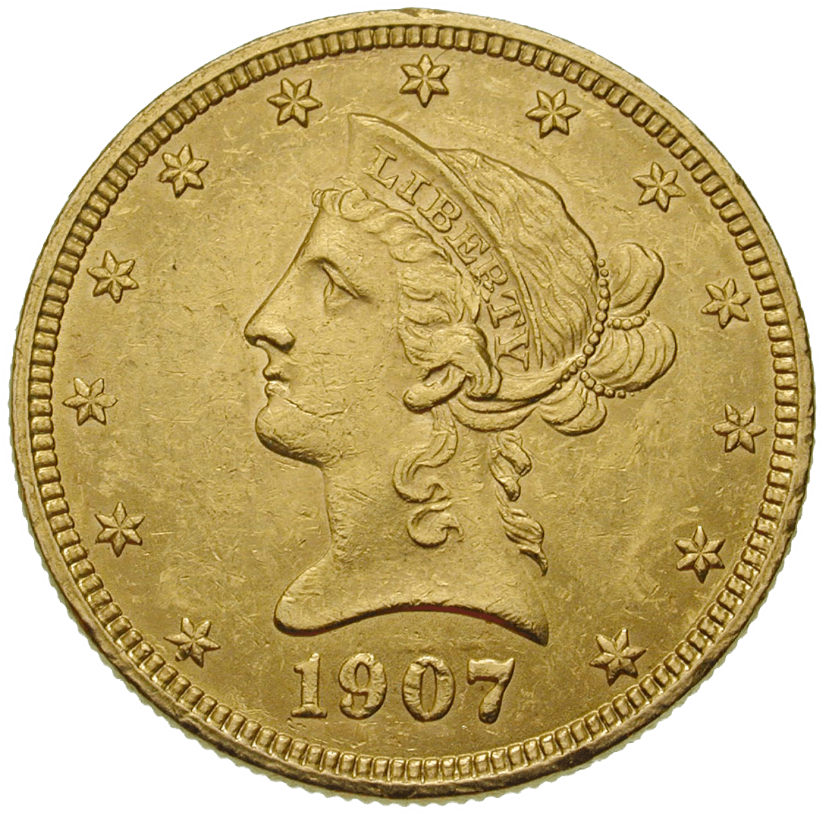 United States of America, 10 Dollars 1907 (obverse)