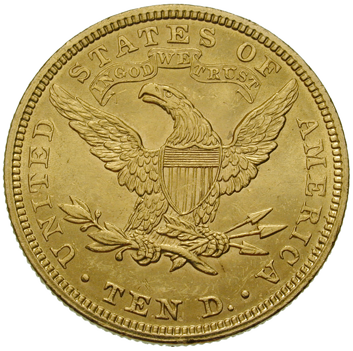 United States of America, 10 Dollars 1907 (reverse)