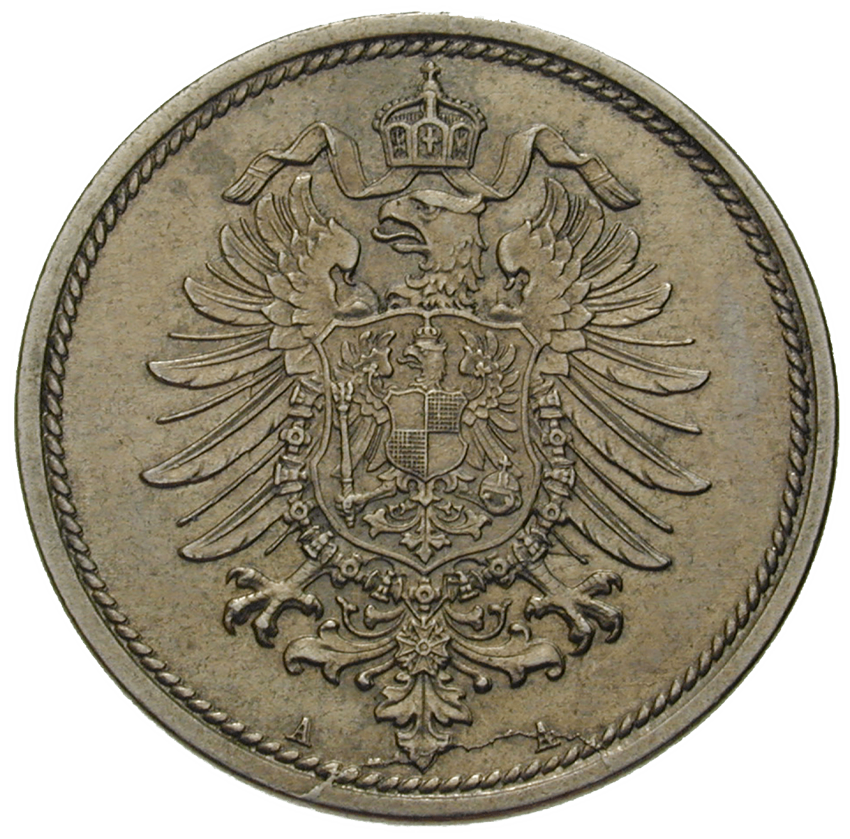 German Empire, Wilhelm I, 10 Pfennig 1873 (reverse)