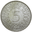 Federal Republic of Germany, 5 Deutsche Mark 1956 (obverse)