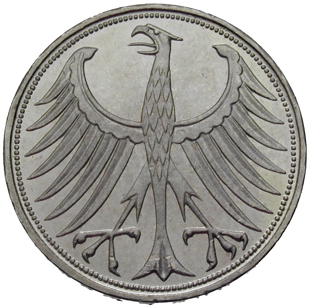Federal Republic of Germany, 5 Deutsche Mark 1956 (reverse)