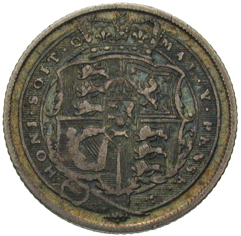 United Kingdom of Great Britain, George III, Sixpence 1818 (reverse)