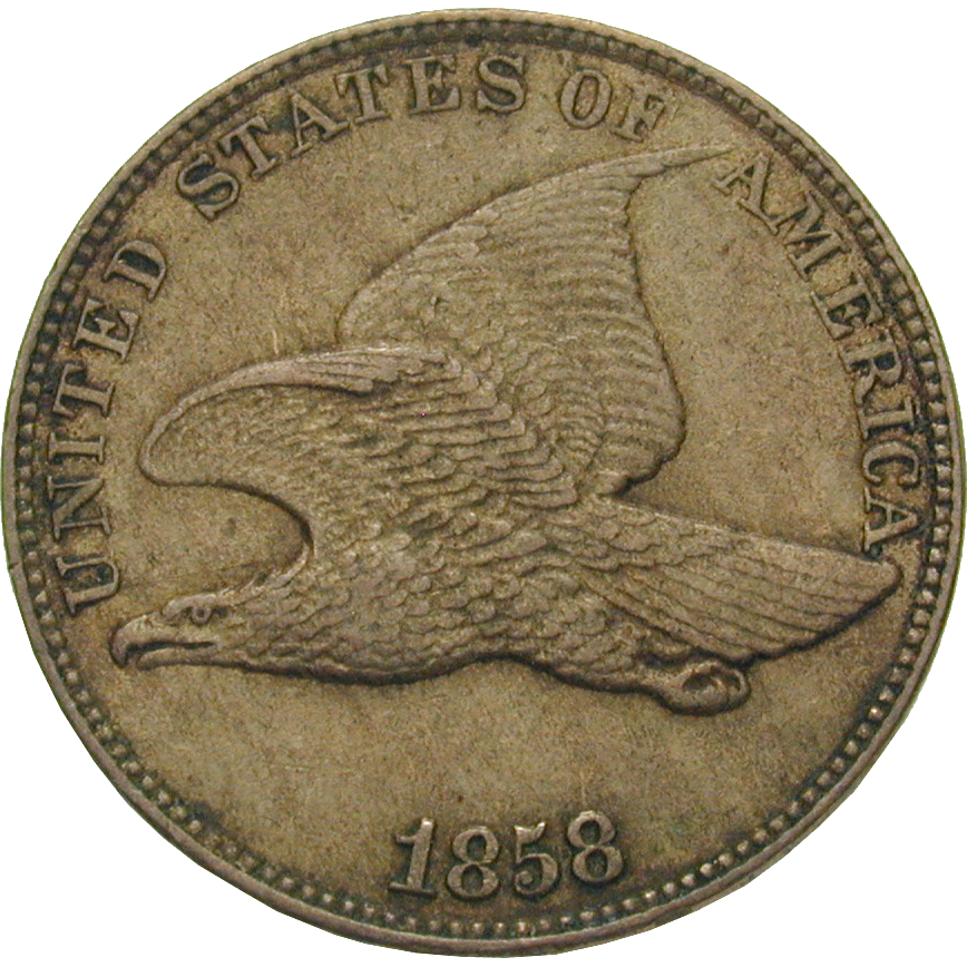 United States of America, 1 Cent 1858 (obverse)