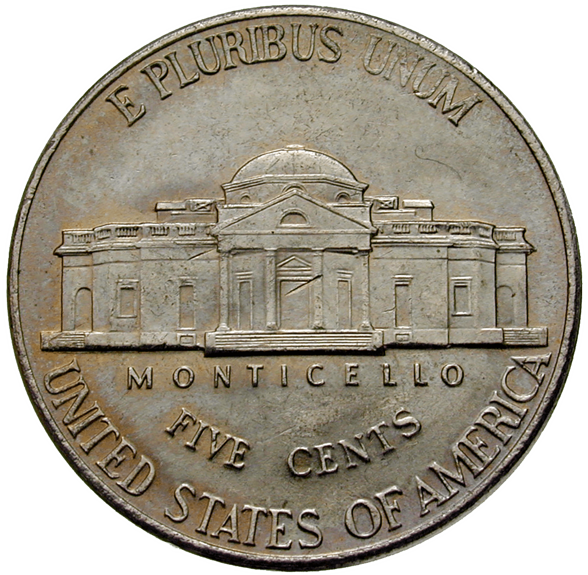 United States of America, 5 Cents 2000 (reverse)