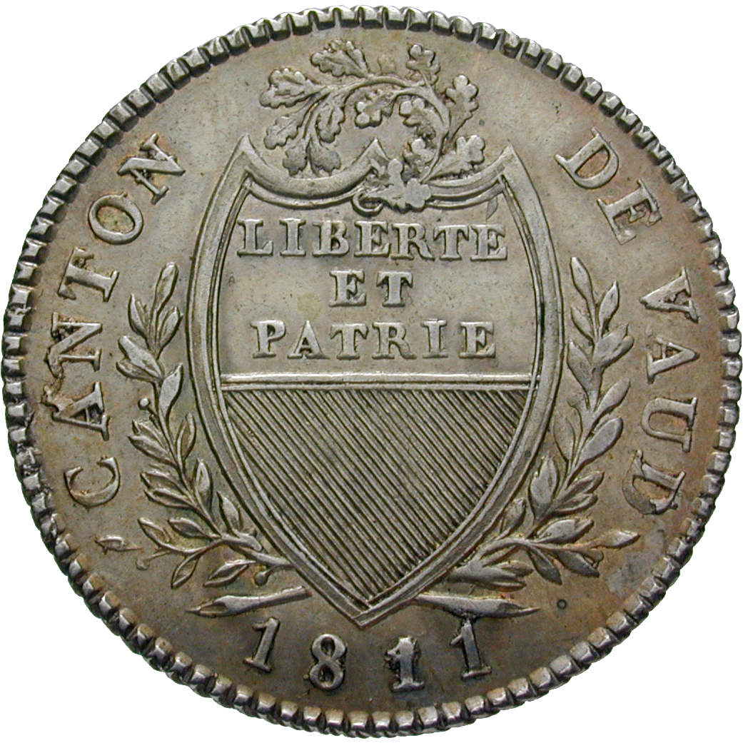 Canton of Vaud, Time of Mediation, 5 Batz 1811 (obverse)
