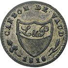 Canton of Vaud, 2 1/2 Rappen 1816 (obverse)