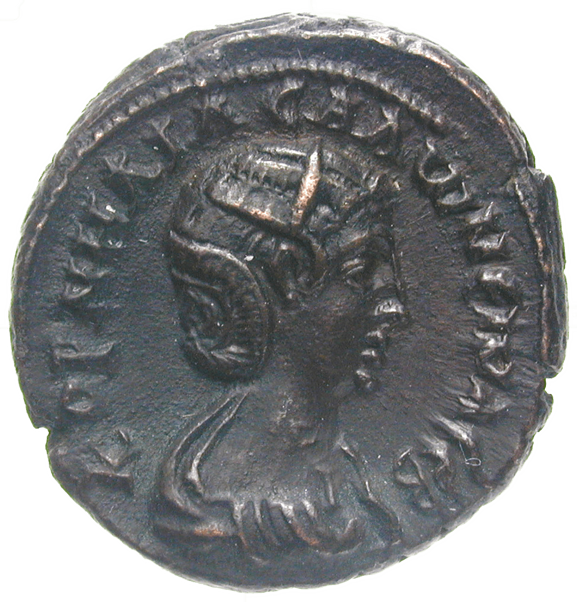 Roman Empire, Gallienus for his wife Salonina, Tetradrachm (obverse)