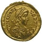 Roman Empire, Honorius, Solidus (obverse)