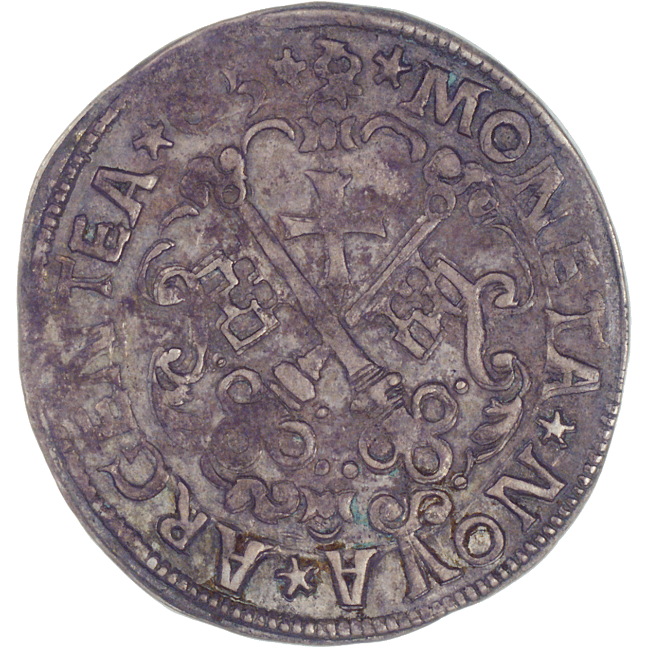 Free and Hanseatic City of Riga, 1/2 Mark (reverse)