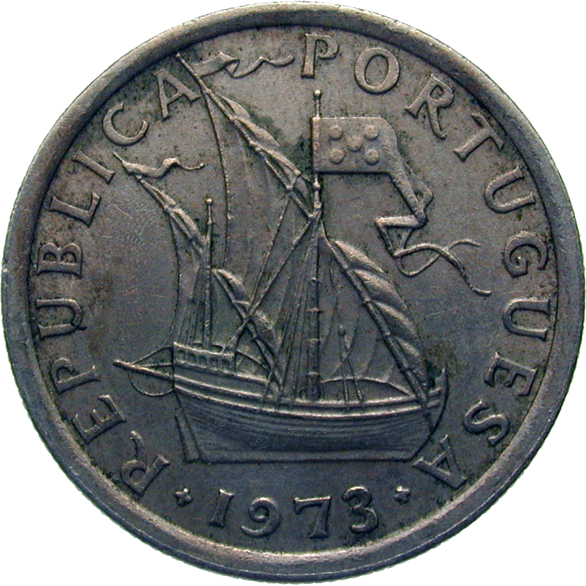 Republik Portugal, 2,5 Escudos 1973 (obverse)