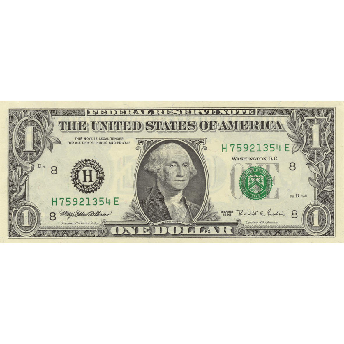 United States of America, 1 Dollar (obverse)