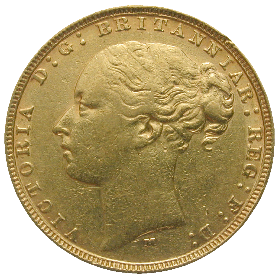 United Kingdom of Great Britain, Victoria, Sovereign 1879 (obverse)