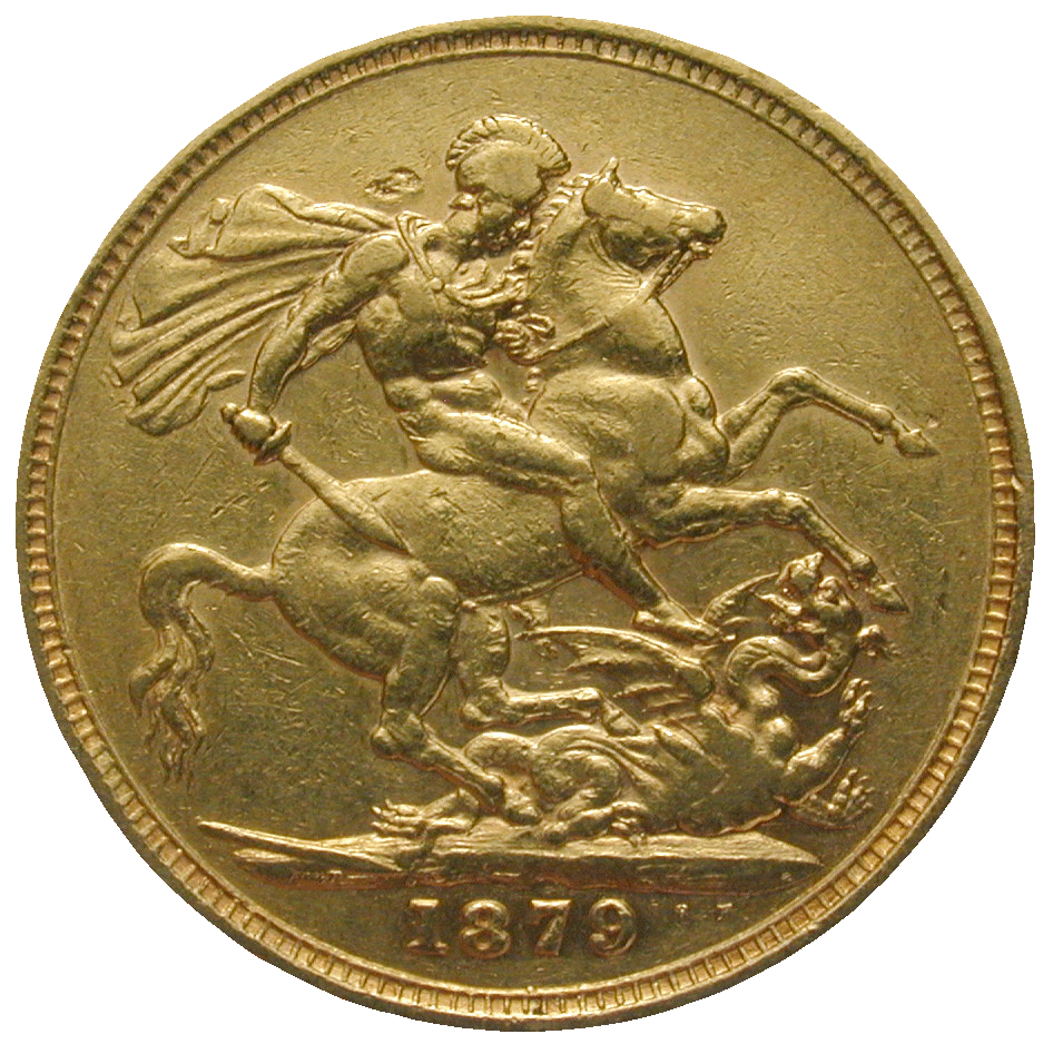 United Kingdom of Great Britain, Victoria, Sovereign 1879 (reverse)
