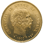 Kingdom of Denmark, Christian IX, 10 Kronor 1900 (obverse)