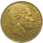 Kingdom of Belgium, Leopold I, 20 Francs 1865 (obverse)