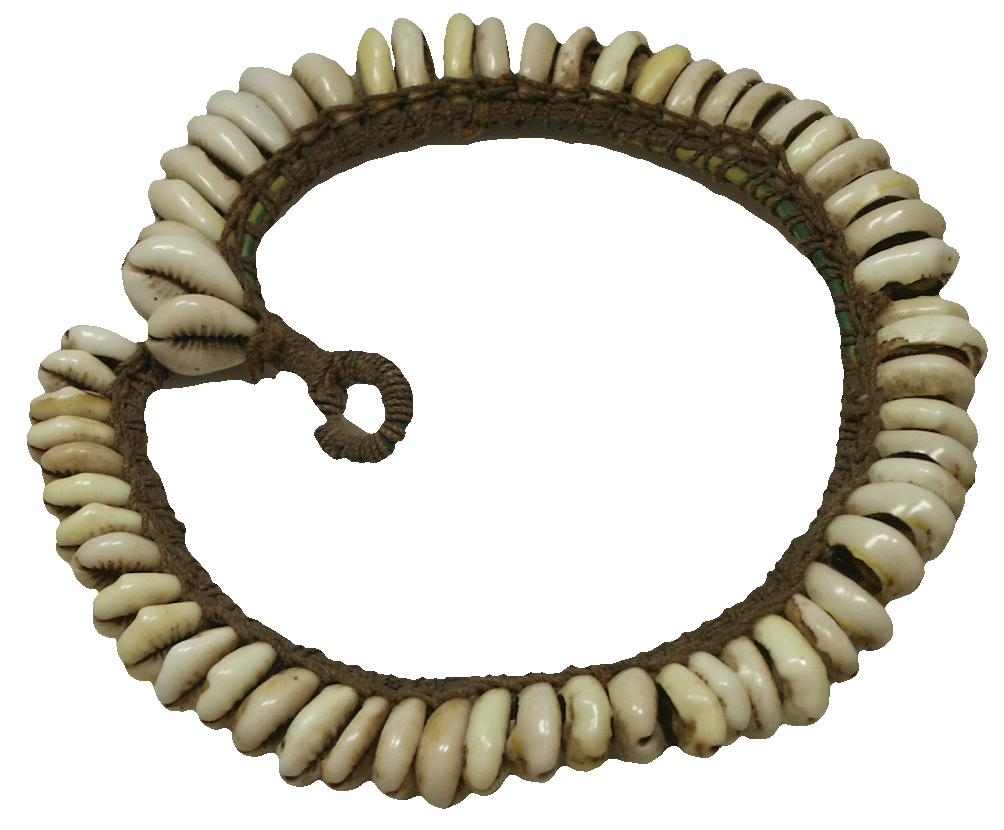 Africa, Cowrie Shell Necklace (reverse)