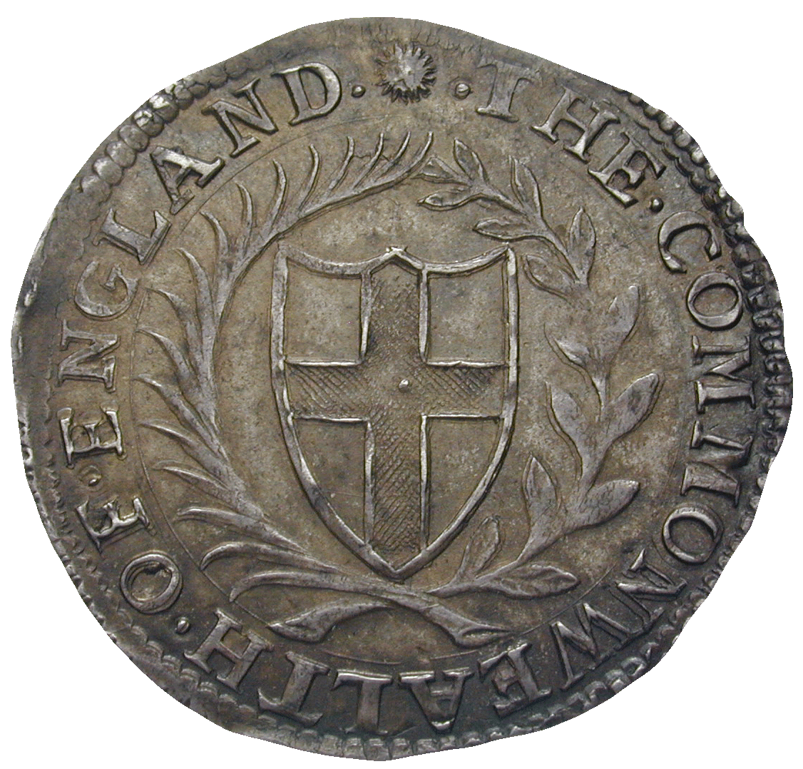 Commonwealth of England, Sixpence 1653 (obverse)