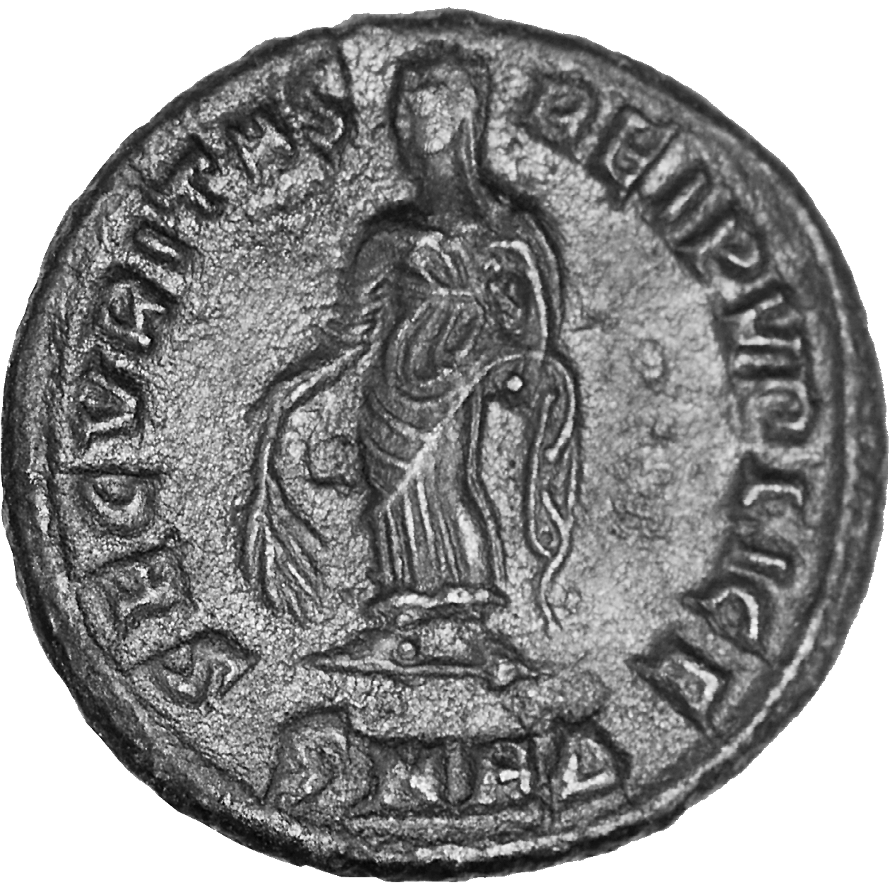 Roman Empire, Constantine I the Great for his Mother Helena, Follis (reverse)