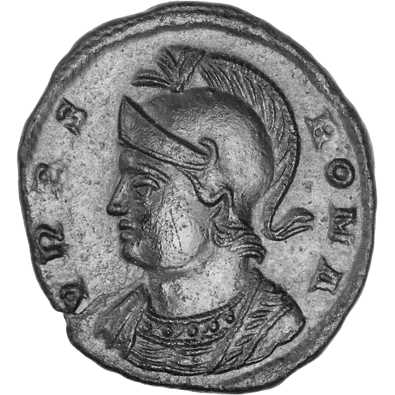 Roman Empire, General Issues of the Cities, Bronze Coin (AE III) (obverse)