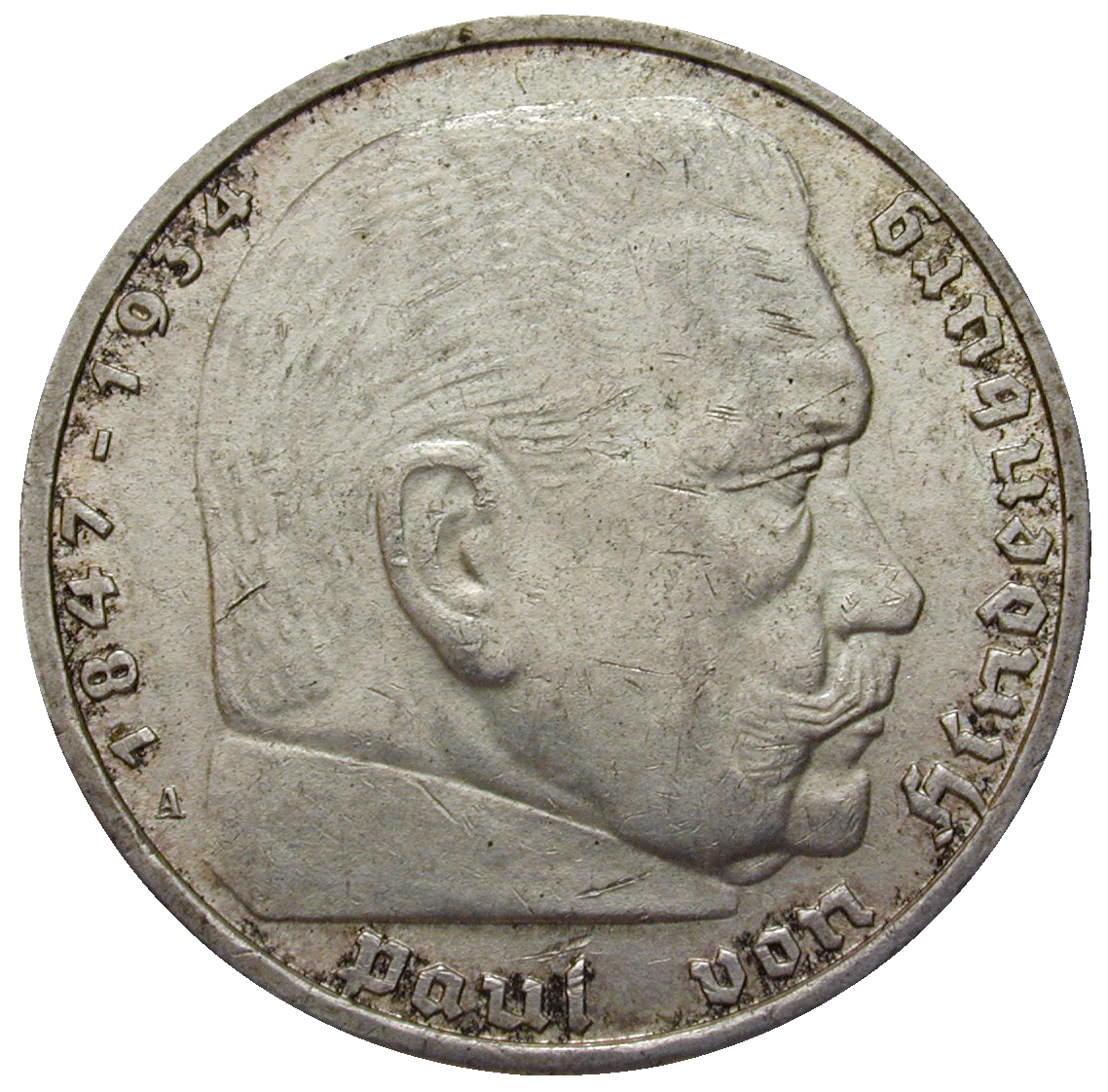 German Third Empire, 5 Reichsmark 1939 (reverse)