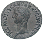 Roman Empire, Claudius, As (obverse)