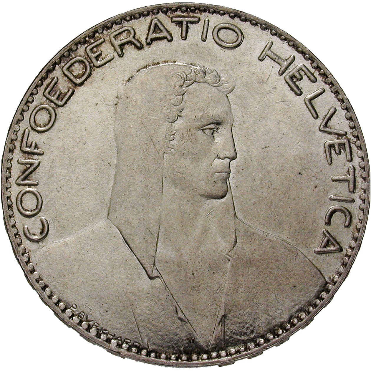 Swiss Confederation, 5 Francs 1922 (obverse)