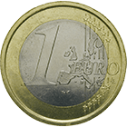 Republic of Italy, 1 Euro 2002 (obverse)