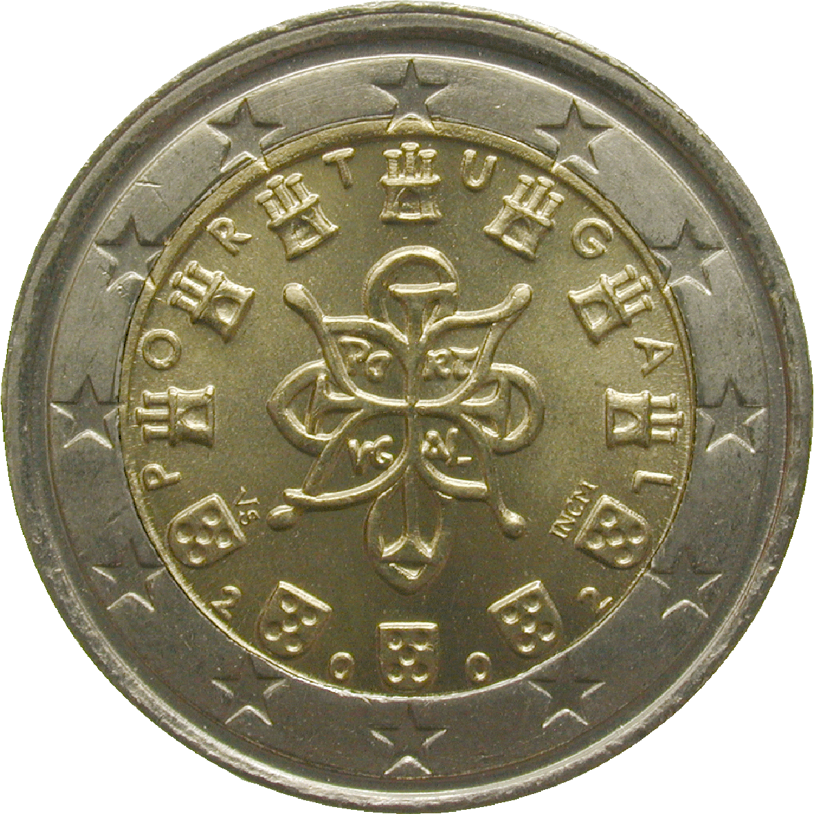 Republik Portugal, 2 Euro 2002 (reverse)