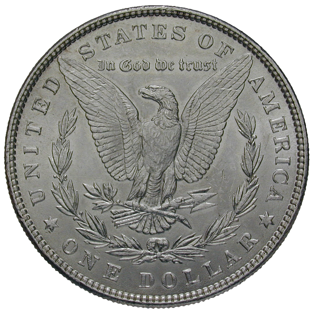 United States of America, 1 Dollar 1886 (reverse)