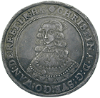 Kingdom of Sweden, Christina, Riksdaler 1644, Stockholm or Sala (obverse)