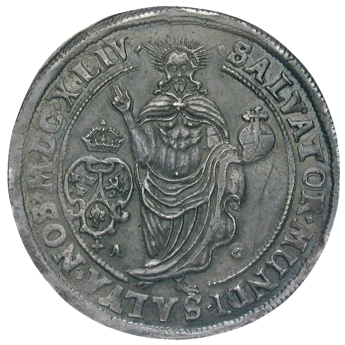 Kingdom of Sweden, Christina, Riksdaler 1644, Stockholm or Sala (reverse)