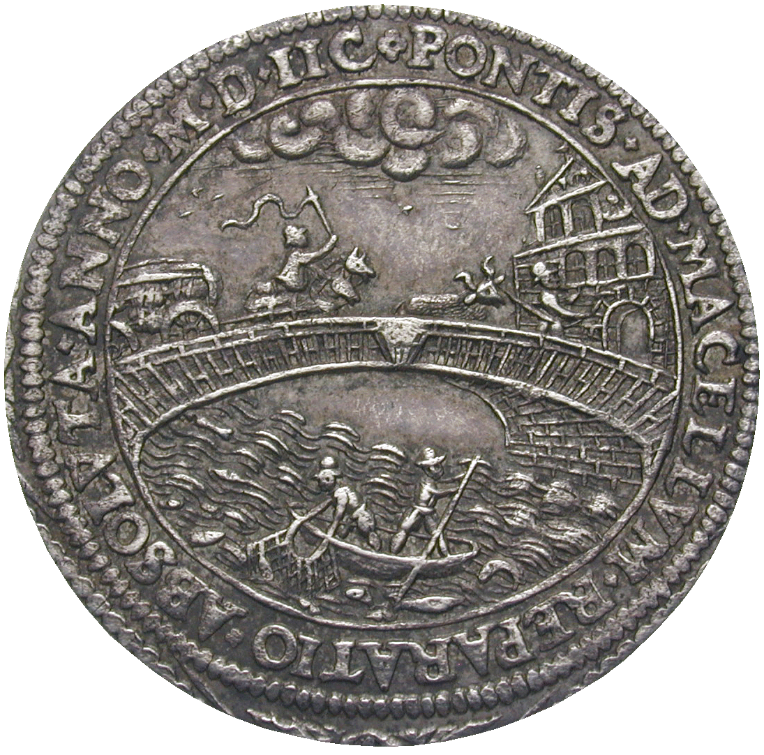 Holy Roman Empire, City of Nürnberg, Silver Medal to the Meat Bridge (reverse)