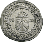 Holy Roman Empire, City of Nuremberg, Kipper worth 15 Kreuzer 1622 (obverse)