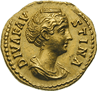 Roman Empire, Antoninus Pius for his Wife Annia Galeria Faustina Major, Aureus (obverse)